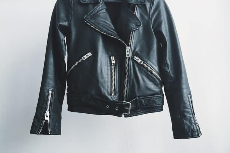 Leather jacka